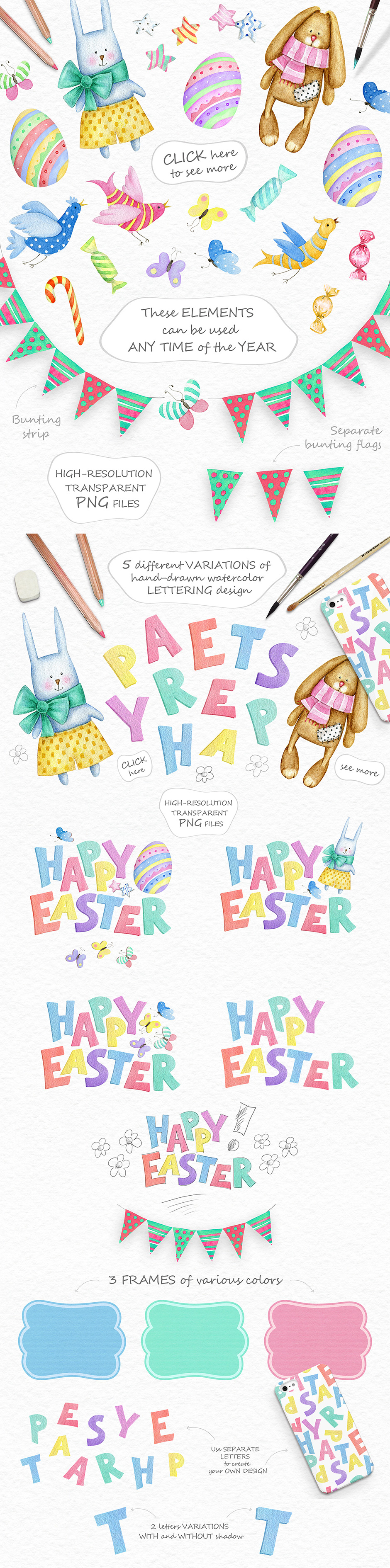 Playful Holiday Collection - Happy Set