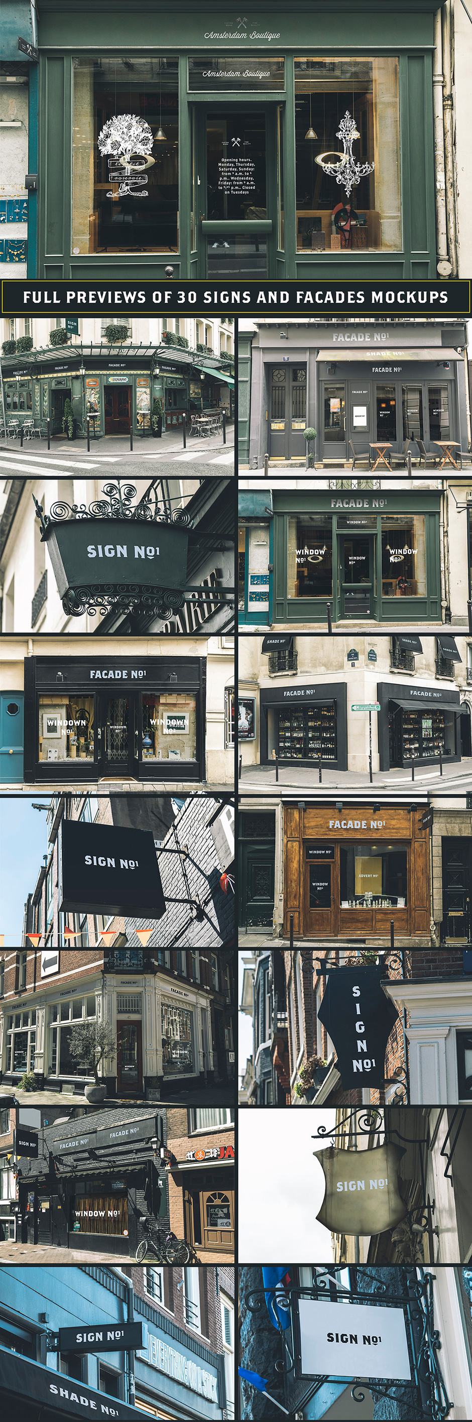 30 Signs Facades Paris & Amsterdam