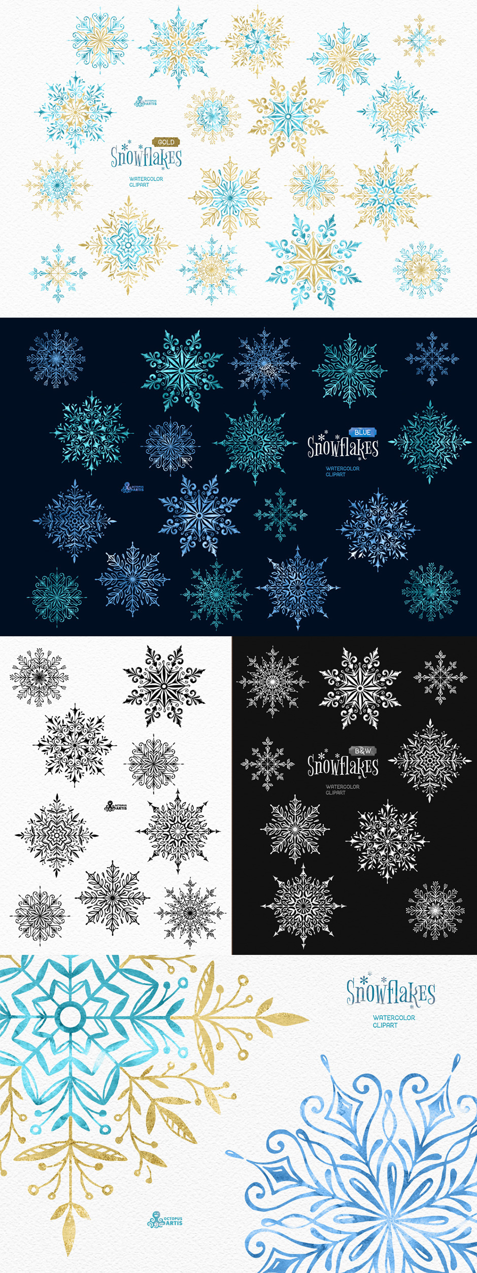 Snowflakes - Winter Collection