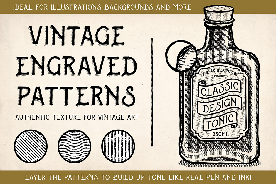 Vintage Engraved Patterns