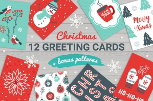 12 Christmas Cards Bonus Patterns