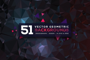51 Vector Geometric Backgrounds Vol. 4