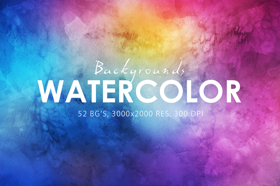 52 Watercolor Backgrounds