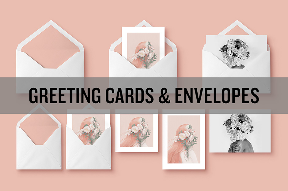 Envelope Greeting Card Mockups