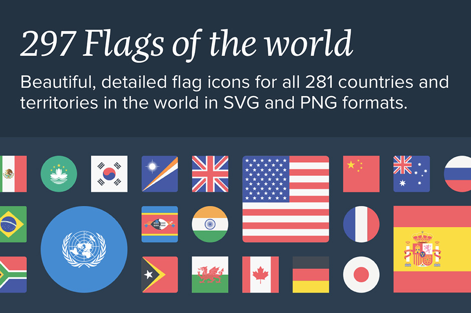 The Flags of The World Icon Set