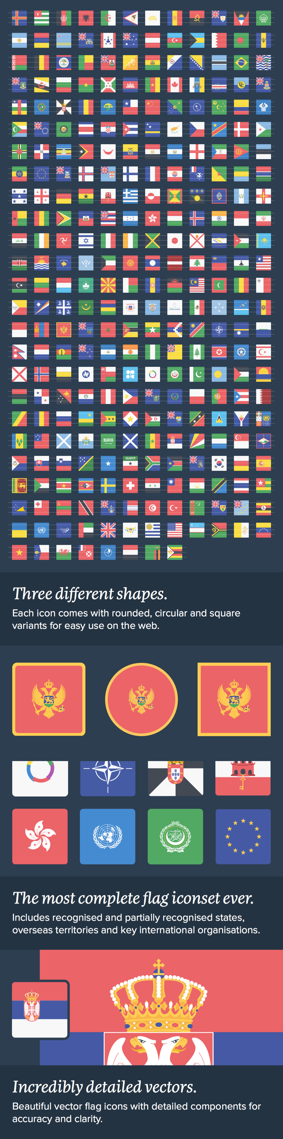 The Flags of The World Icon Set - Design Cuts