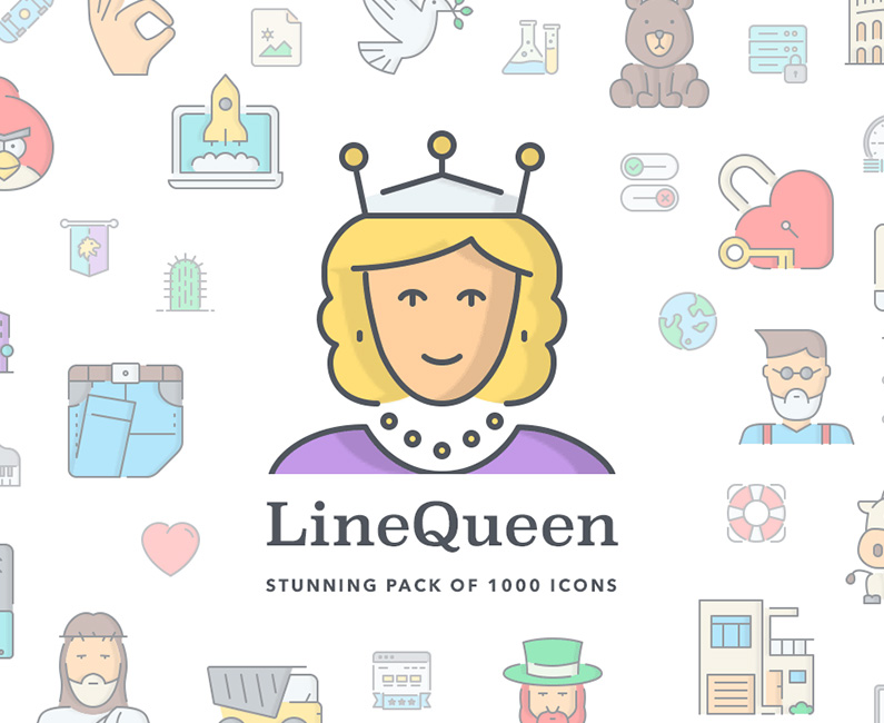 LineQueen Icons. 30% Off Regular Price