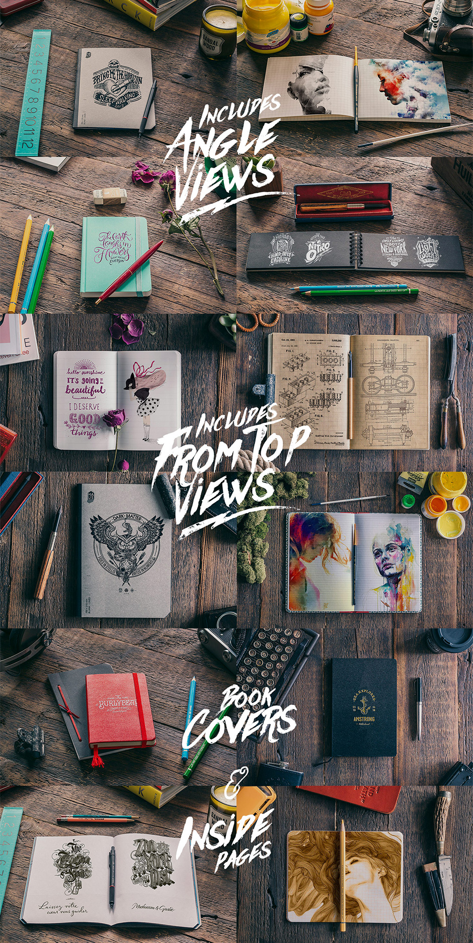 50 Notebooks Mockups