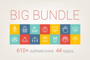 Outlined Icons Big Bundle