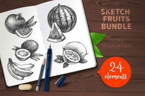 Sketch Fruits Bundle