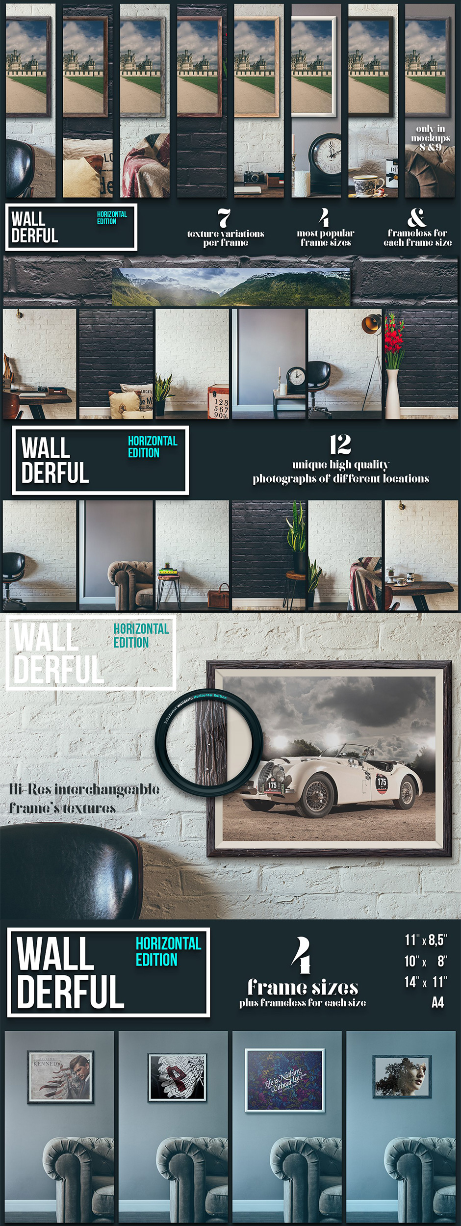 Wallderful Horizontal Mockups