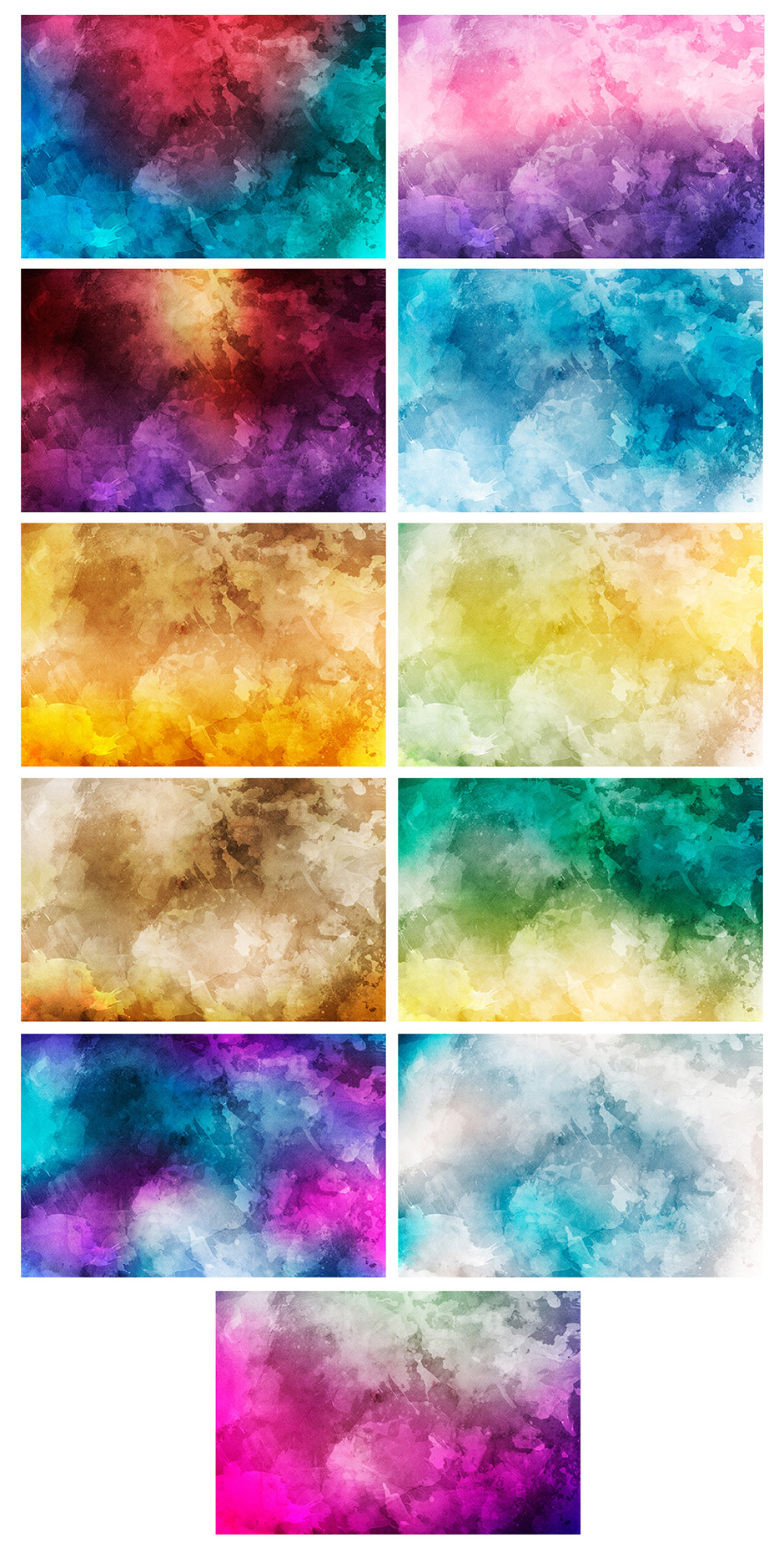 Watercolor Backgrounds + Bonus