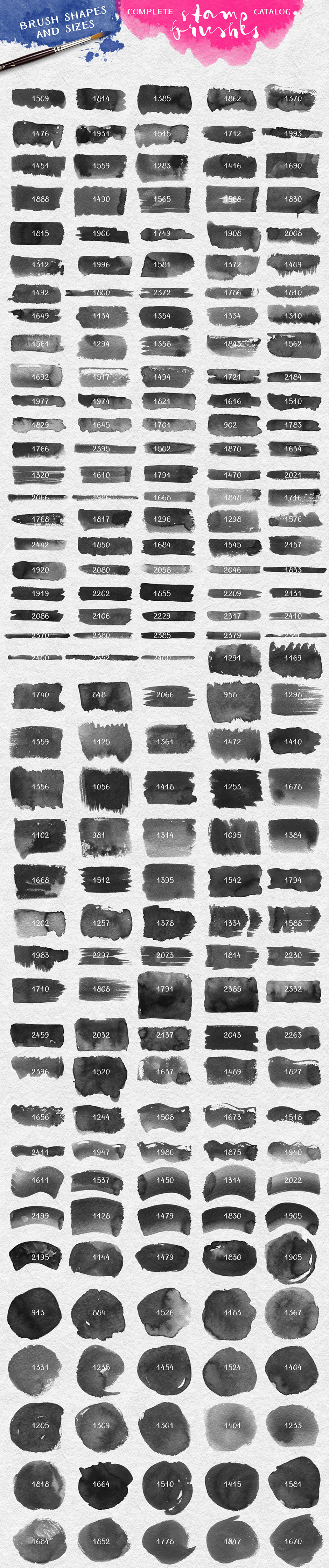 Watercolor Brush Stamps