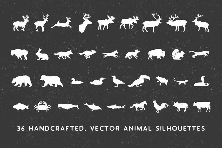 Hand-made Animal Silhouette Pack