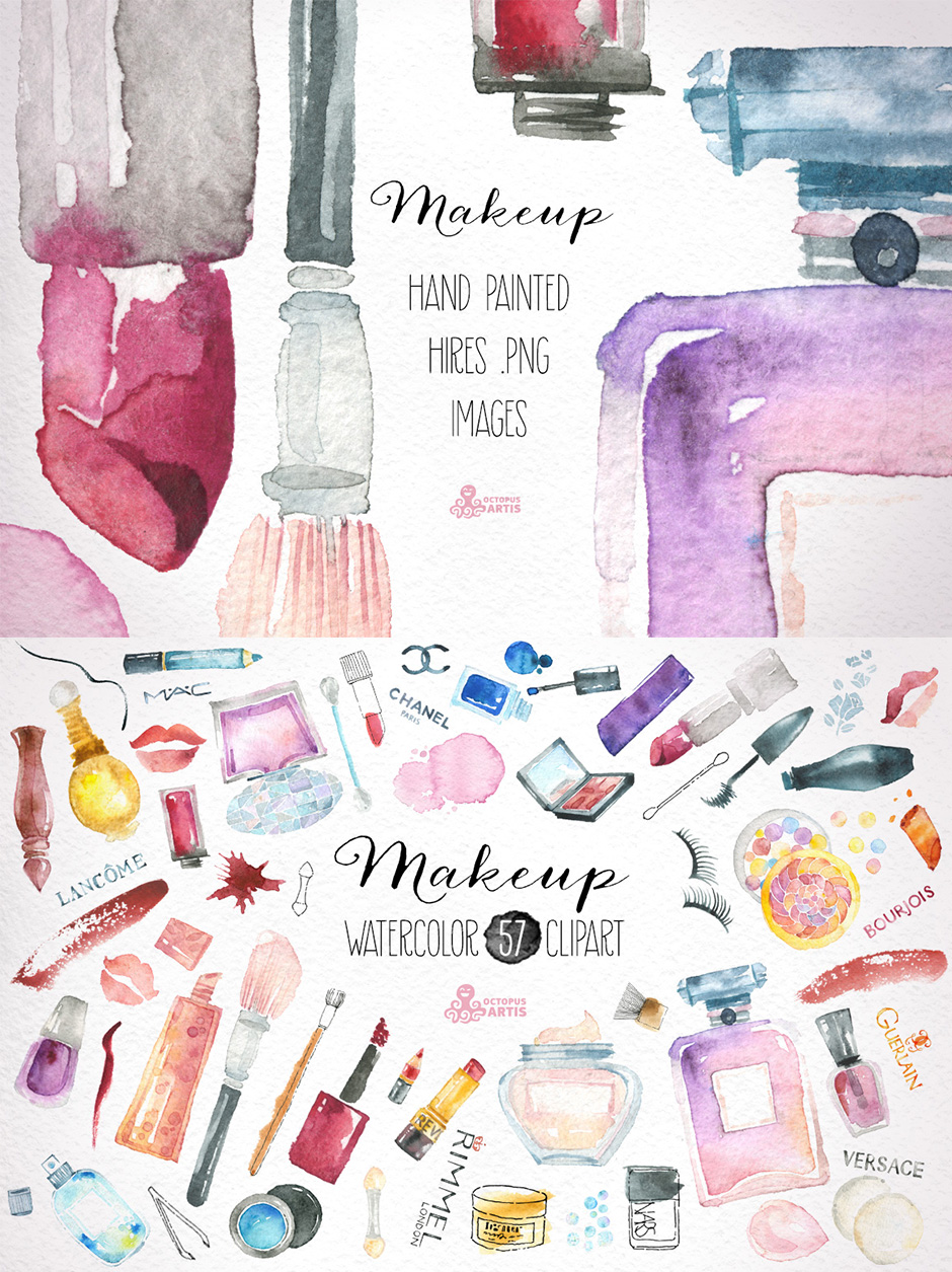 Makeup & Cosmetics Clipart