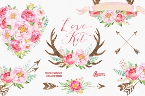 Love Kit Watercolor Collection
