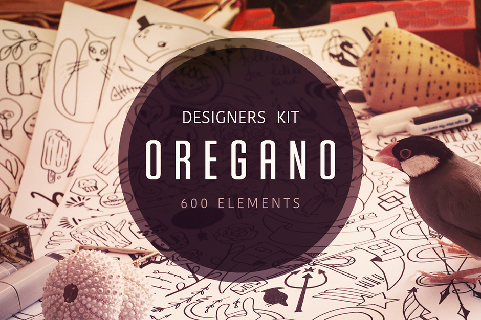 Oregano Vector Elements Kit