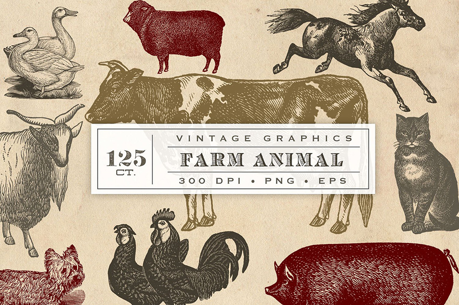 vintage-farm-animals-first-image