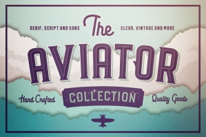 The Aviator Font Collection