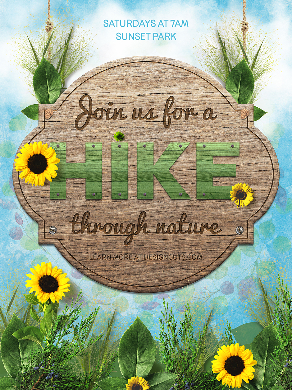design a nature inspired event poster in photoshop