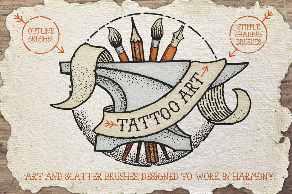 Tattoo-style-Art-brushes-first-image