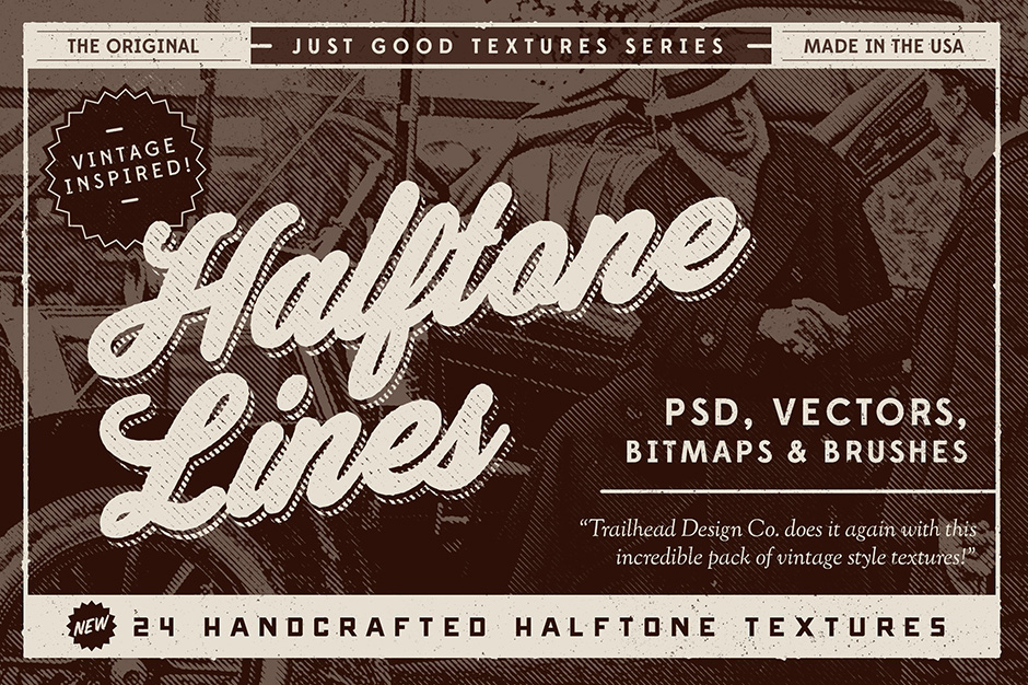 Just Good Textures Halftone Lines