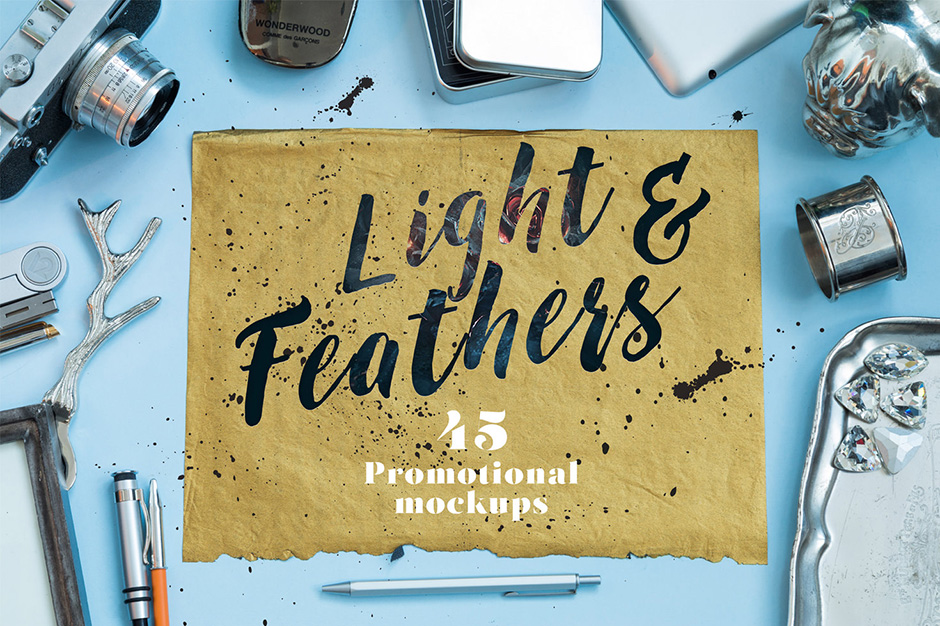 Light & Feathers Promotional Mockups