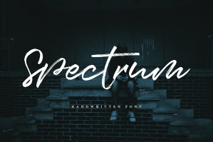 Spectrum - Signature Brush Font