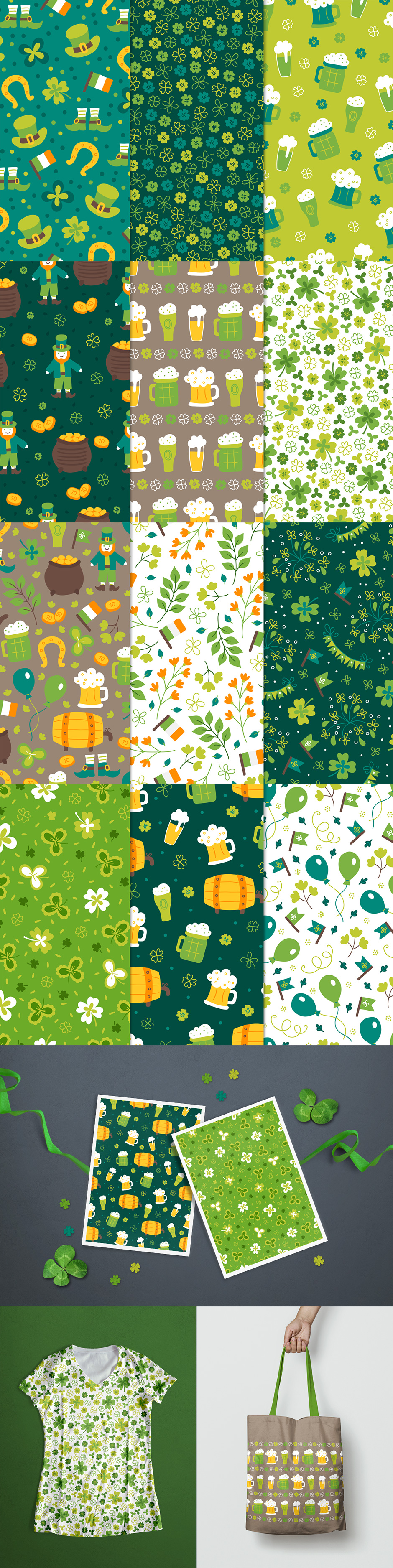 12 St Patricks Day Patterns