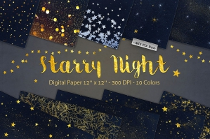 Starry Night Digital Paper