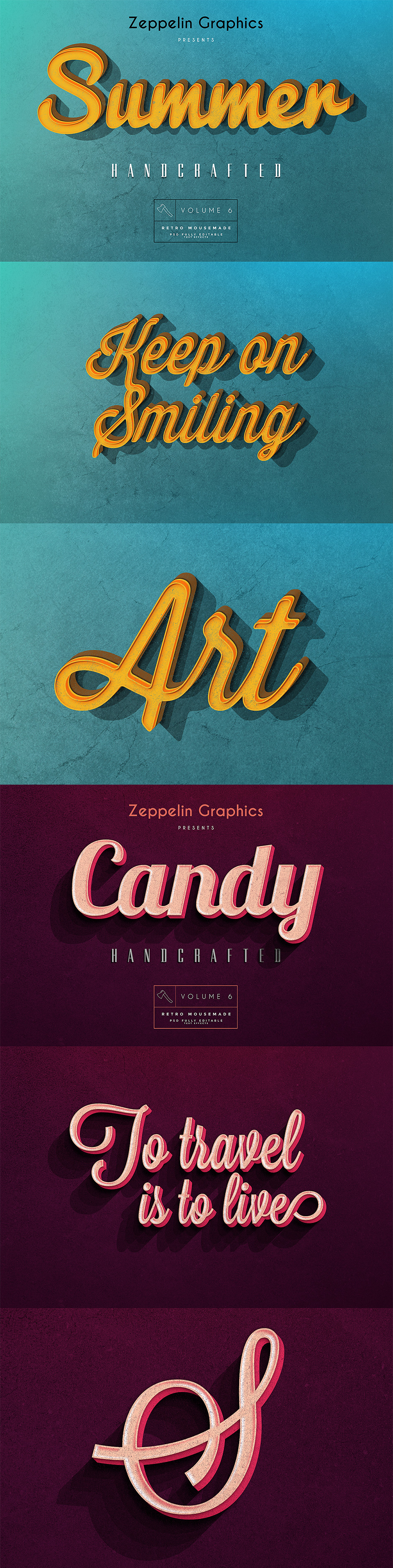 Vintage Text Effects Vol. 6