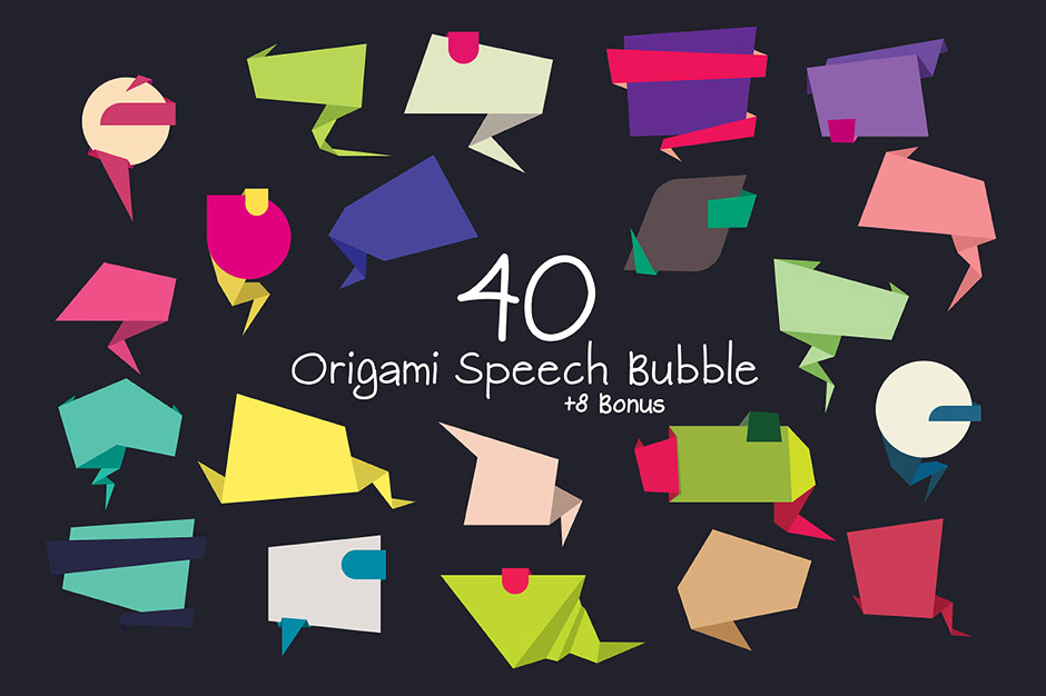 Origami-Speech-Bubbles-First-image