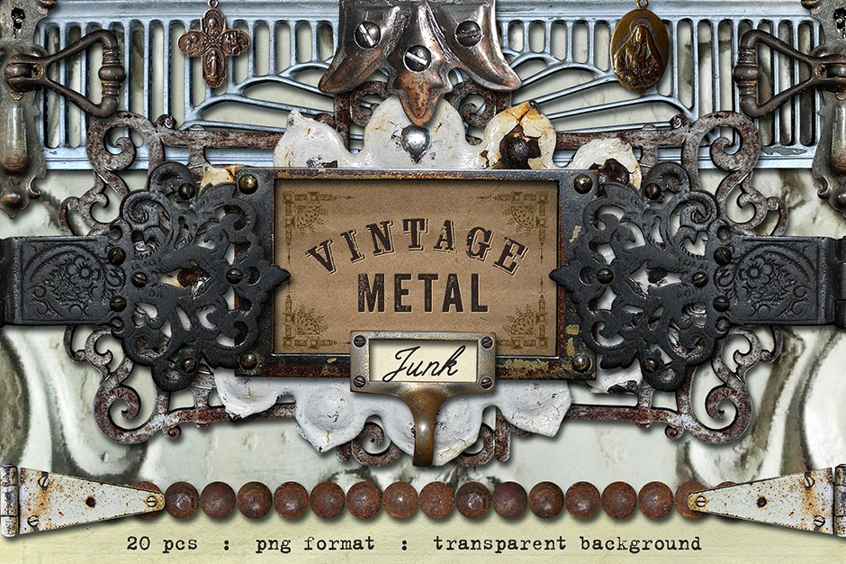 Vintage Metal & Junk Graphics Set 3