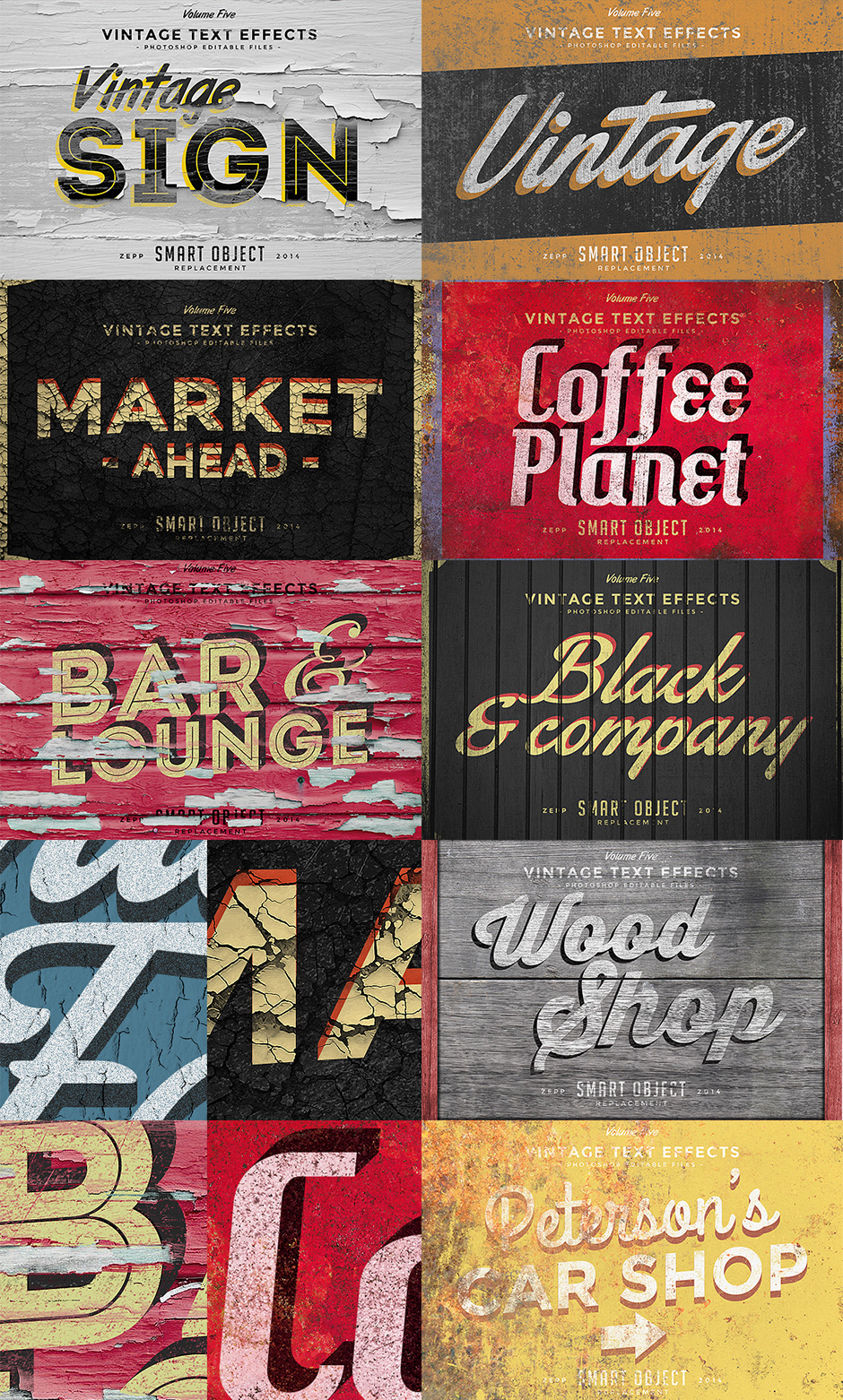 Vintage-ify Your Text In Seconds With This Vintage Text Effects Bundle