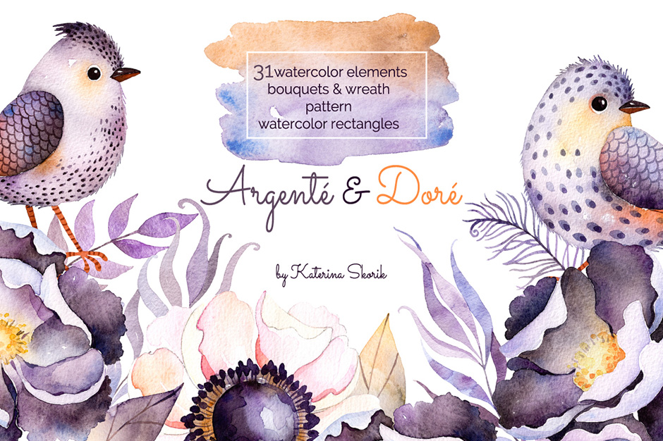 Argenté & Doré - Watercolor Set