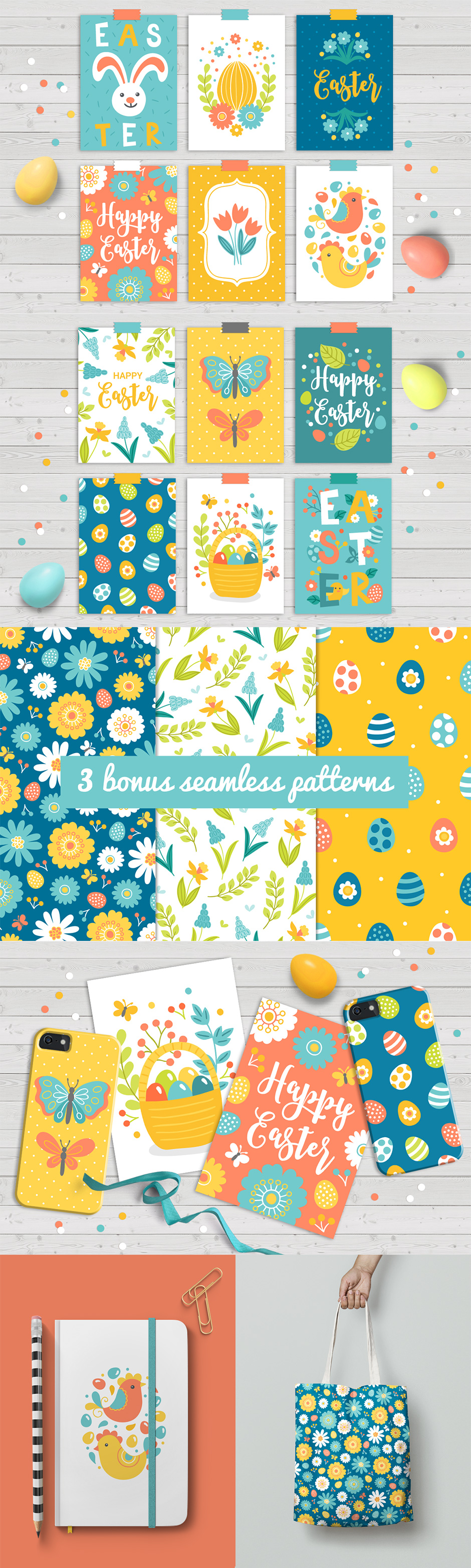 12 Easter Cards & Bonus Patterns