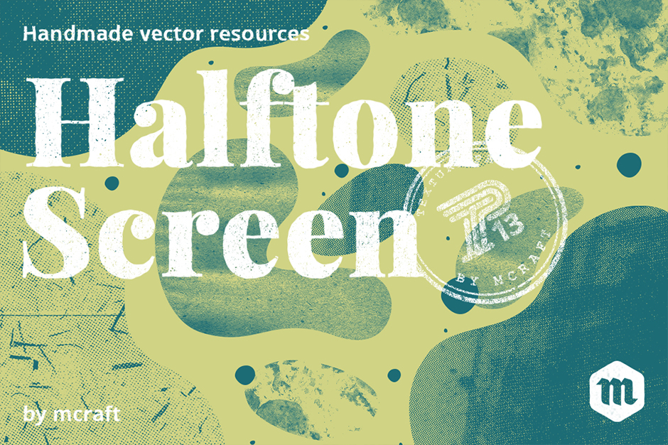 Halftone Screen Texture Pack