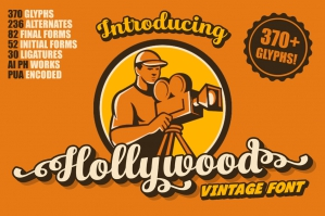 Hollywood Vintage Font