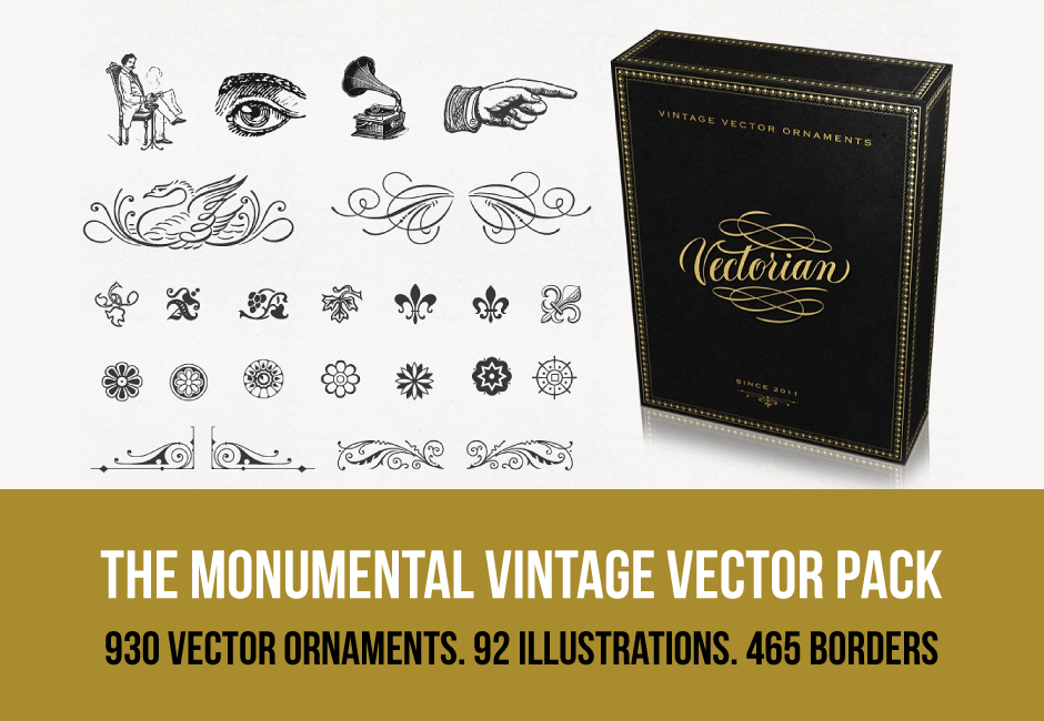 The Monumental Vintage Vectors Pack