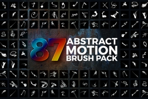87 Abstract Motion Brushes Pack