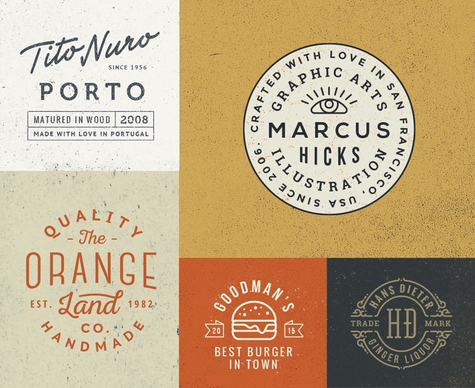 10 Logo & Badge Templates Vol. 5