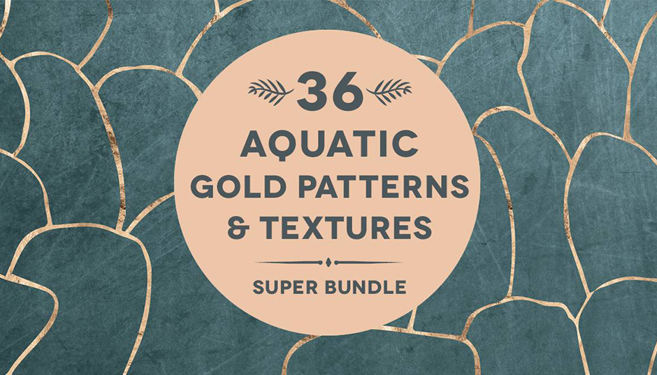 36 Aquatic Rose Gold Textures