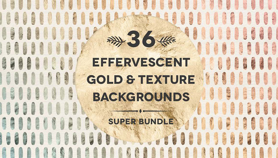 36 Effervescent Watercolors Gold