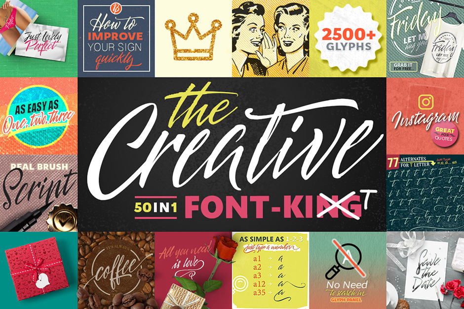 50 in 1 The Creative Font Kit