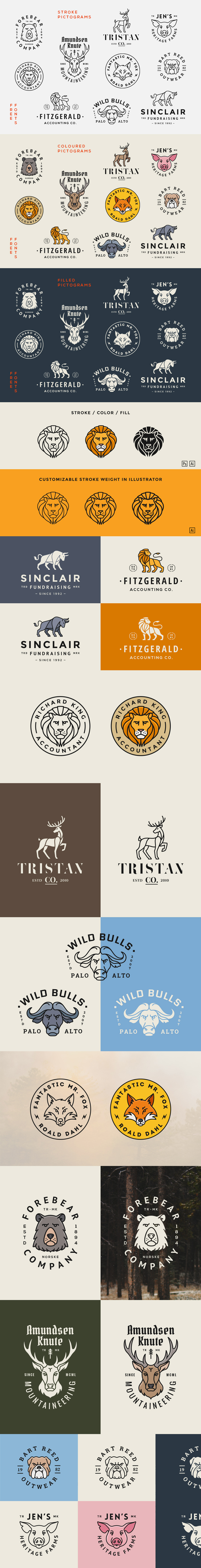 Animal Logo Badge Templates Vol. 1