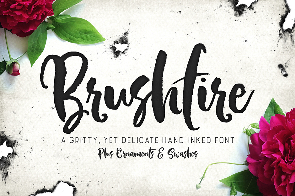 Brushfire Tyeface with Extras