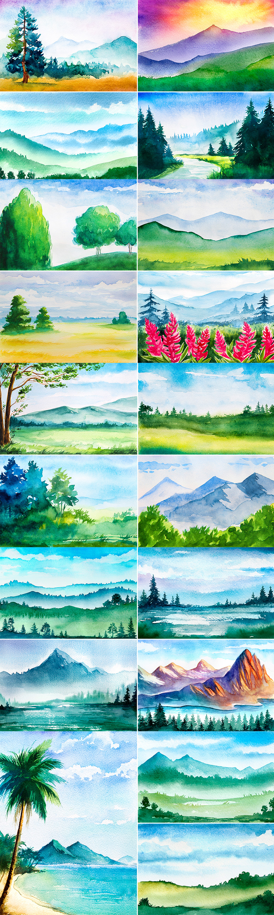 Landscape Watercolor Sketches