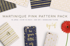 Martinique Pink Patterns Pack