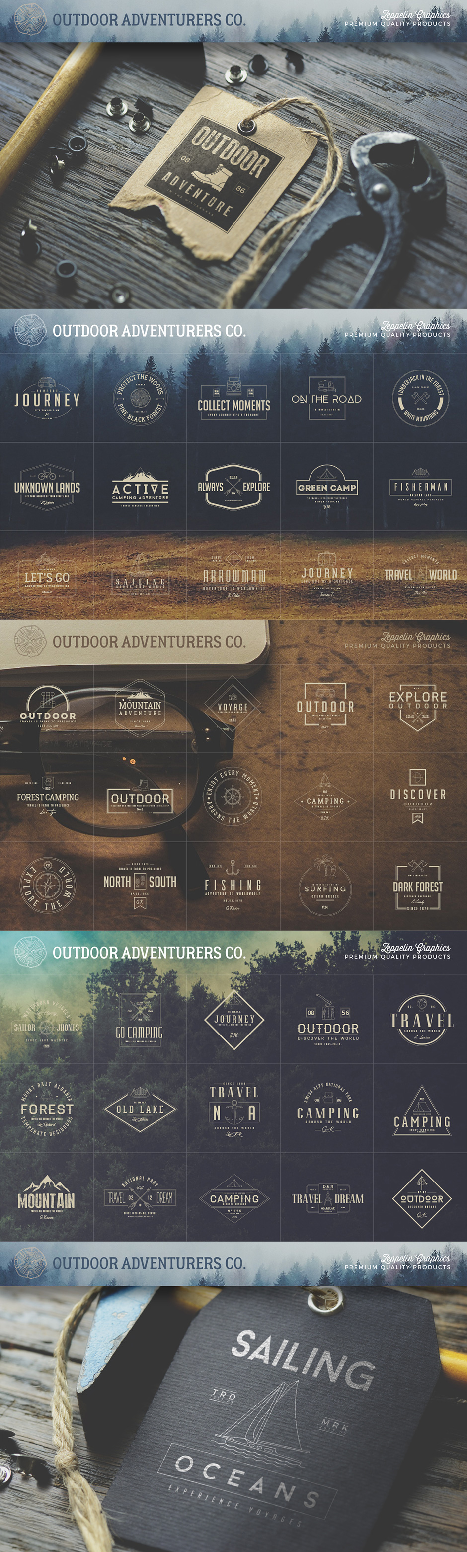150 Outdoor Adventure Logos