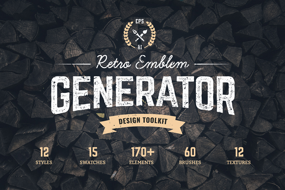 Logo Maker Retro Emblem Generator - Design Cuts - photo#50